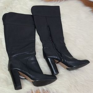 Halogen black leather tall boots size 9.5